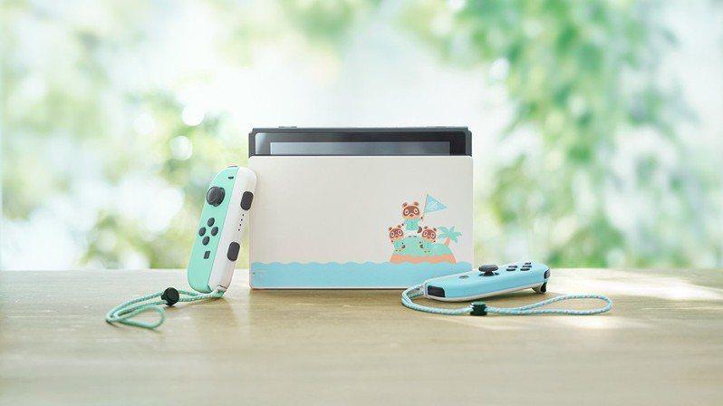 任天堂Switch配合遊戲新作《集合啦!動物森友會(あつまれ どうぶつの森)》推出限定版同捆主機。 圖/翻攝自nintendo.co.jp網站
