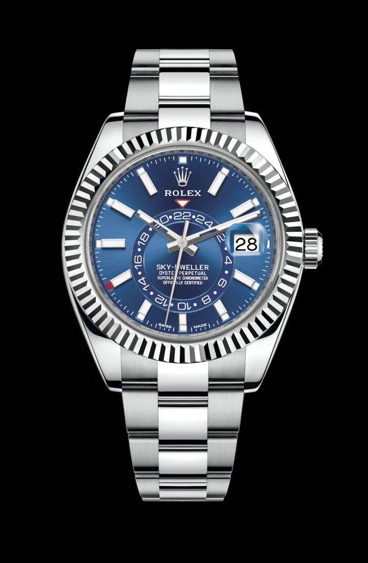 Rolex,白色黃金Sky Dweller腕表,42毫米,時間顯示,年曆功能,4...