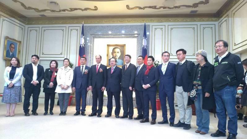 游錫堃宣誓就職成為立法院長。記者蔡晉宇/攝影