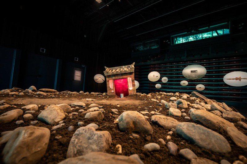 王奕盛「寶島浮沈」於雲門劇場展出。圖/雲門提供