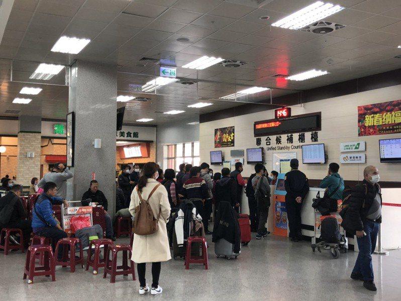 金門航空站因武漢肺炎疫情影響,今年候補人數明顯比往年少。  記者蔡家蓁/攝影