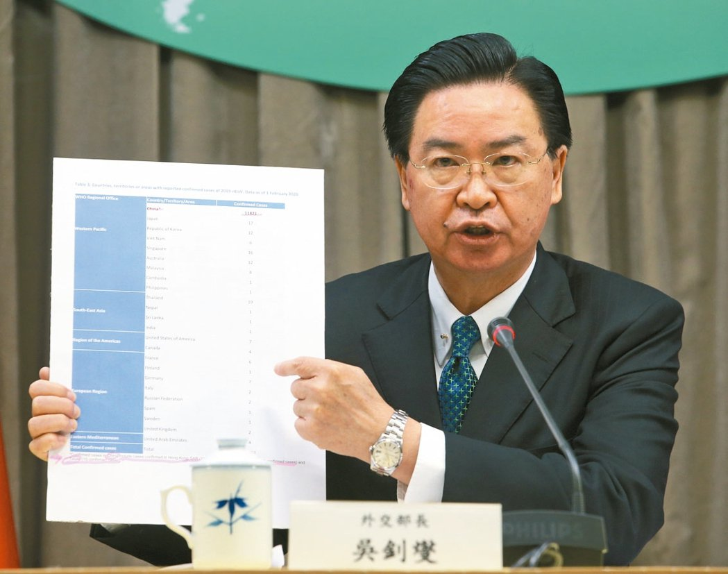 外交部長吳釗燮。報系資料照/記者葉信菉攝影