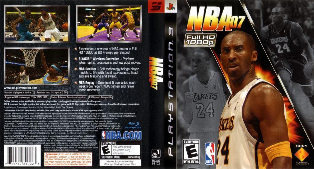 SCE曾於2006年推出《NBA 07》,並由Kobe Bryant擔任封面。