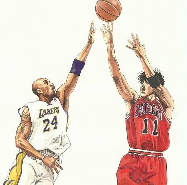 有網民在井上雄彥Twitter貼上流川與Kobe打球的畫像,令人感觸良多。