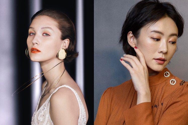 想當口罩美女,眼妝最重要。圖/Celvoke、THREE提供