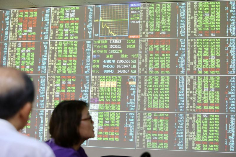 台股受到壓力,今(24)日呈現區間震盪,開紅收黑,終場指數收在10,347.36點,下跌19.15點。 圖/聯合報系資料照片