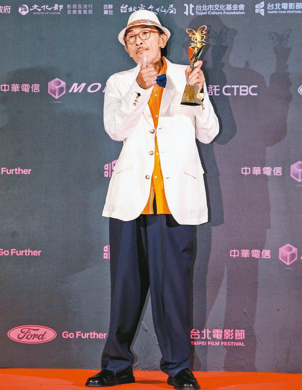 小戽斗去年以「老大人」奪得2019台北電影獎最佳男主角獎。圖/報系資料照