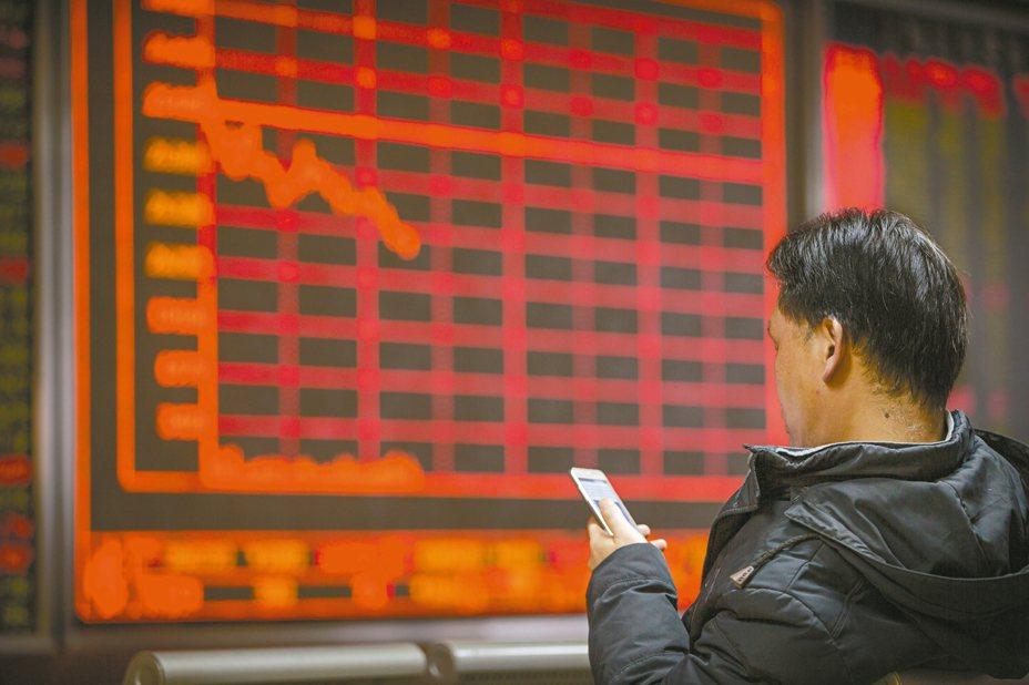 陸股今日新春開盤大跌近9%。 圖/美聯社