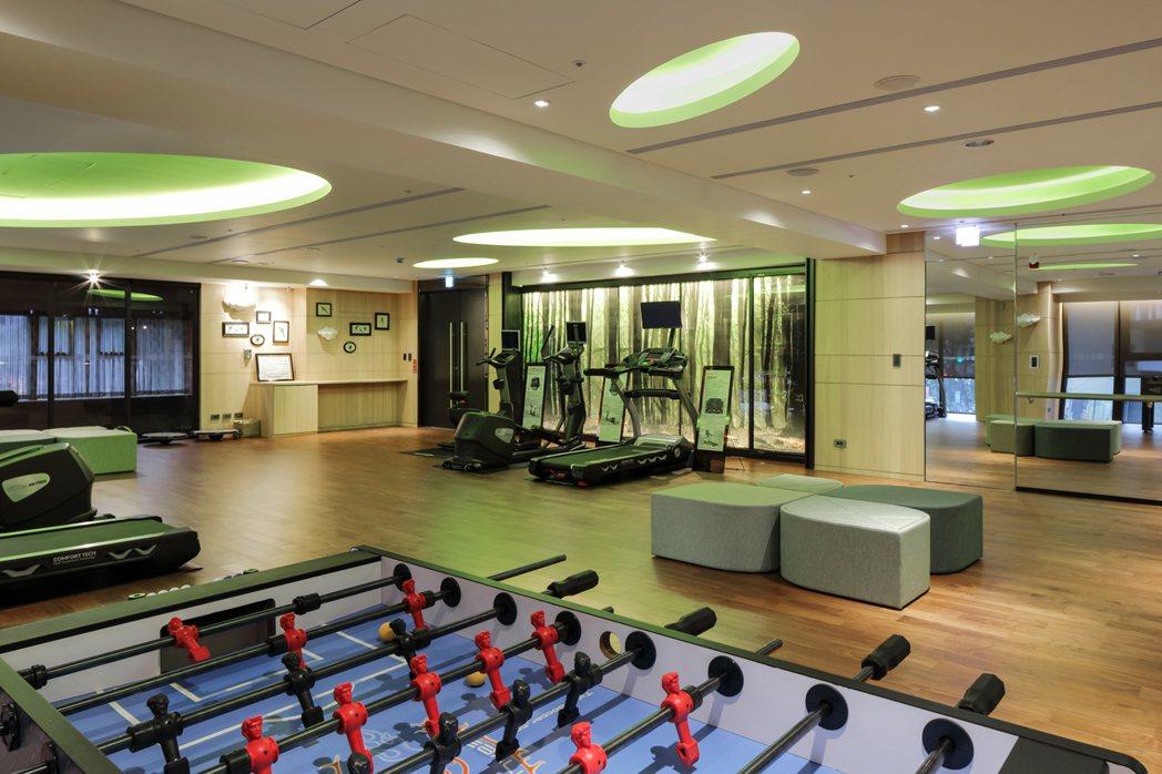 綠活健身房。圖片提供/京城建設