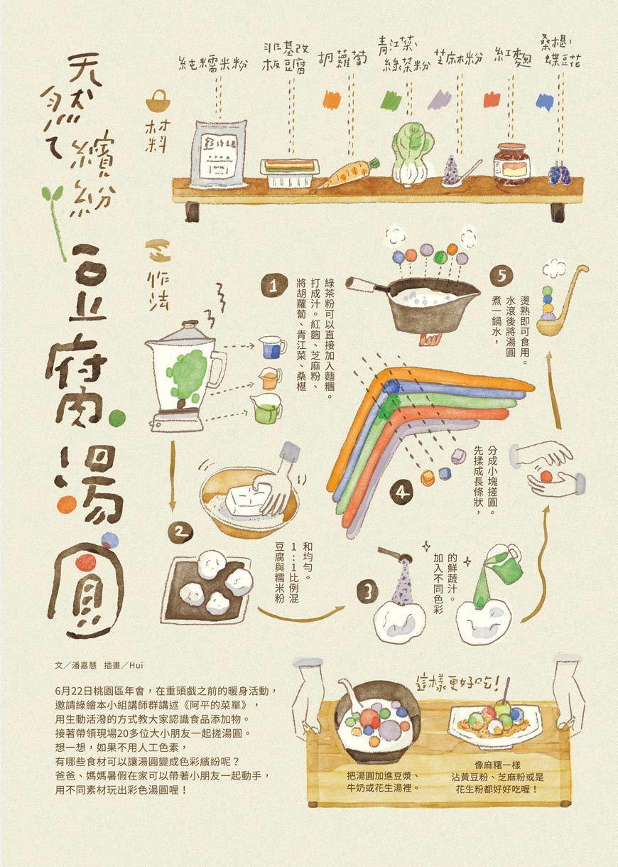 天然ㄟ繽紛豆腐湯圓。 圖/主婦聯盟提供