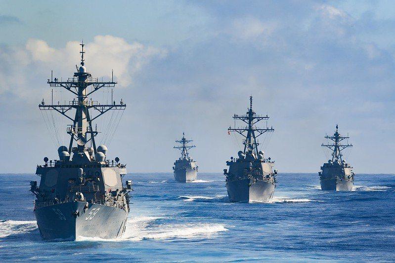 被派駐到太平洋地區的美國海軍驅逐艦分隊。 圖/取自美國海軍