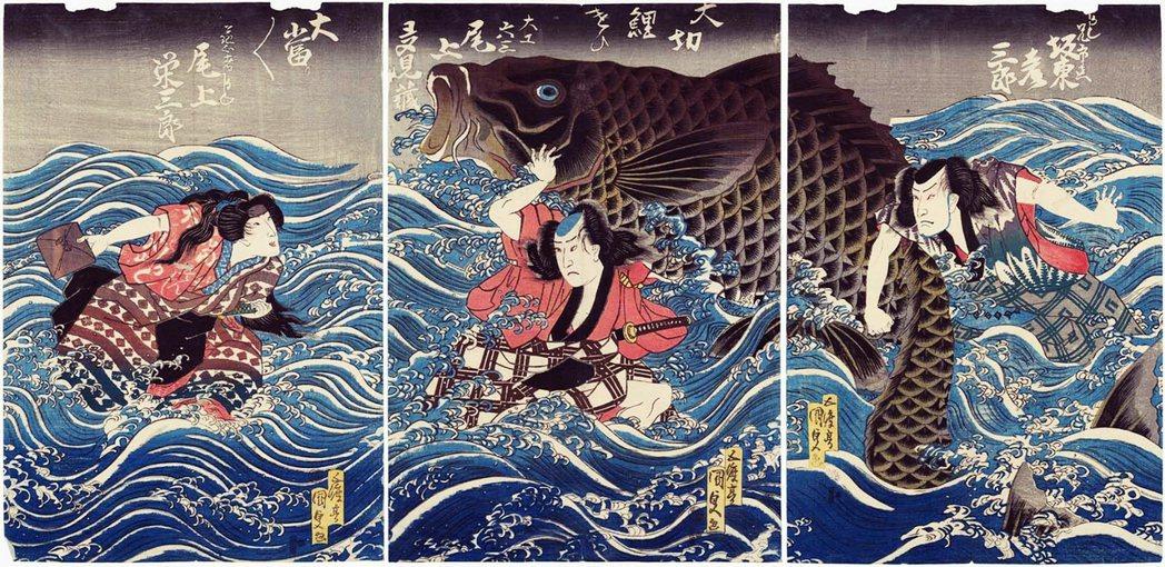 浮世繪描寫的多為當代風景時事,以「人」作為最中心的主題。圖為歌川國貞的作品,為江...