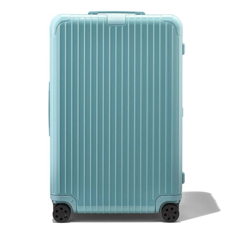 RIMOWA Essential季節性限量冰川藍行李箱約24,870元。圖/摘自RIMOWA官網