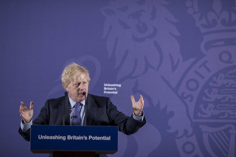 強生3日在格林威治老皇家海軍學院發表英國正式脫歐後首場演說。歐新社