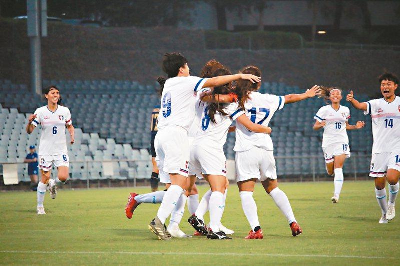 中華隊一球之差氣走泰國隊。 圖/中華足球協會提供