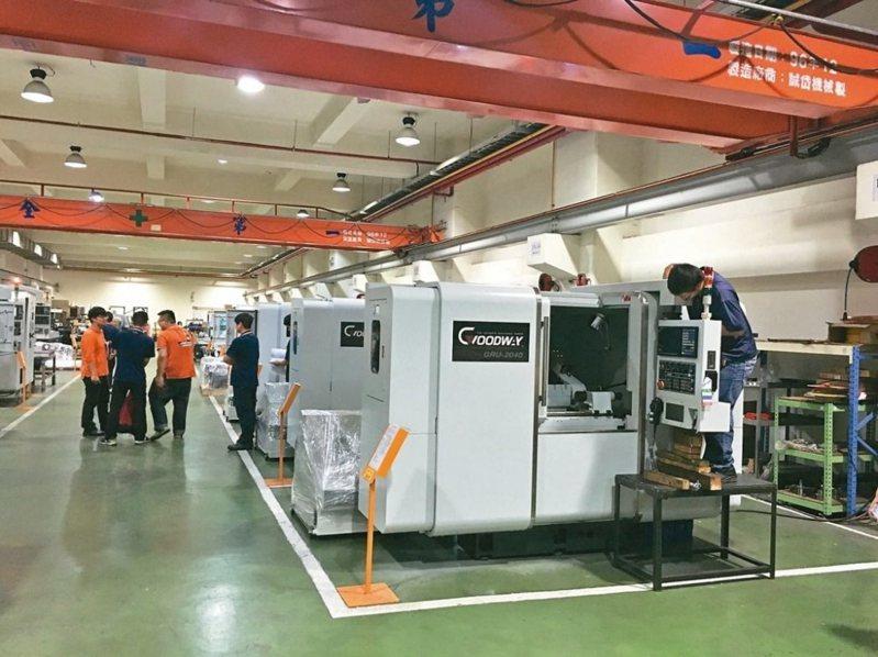 台灣在工具機上仍然領先中國。圖為台灣的工具機廠生產線。圖/聯合報系資料照片