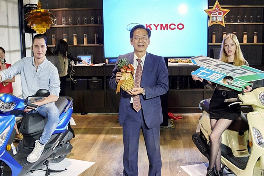 Kymco執行長柯俊斌也分享了台灣1月機車市場概況。 圖/Kymco提供