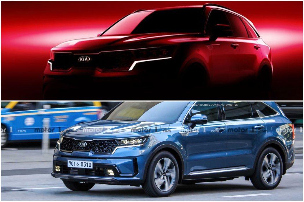 在Kia釋出首波預告圖的同時,外媒也揭露了大改款Sorento的無偽裝實車。 摘...