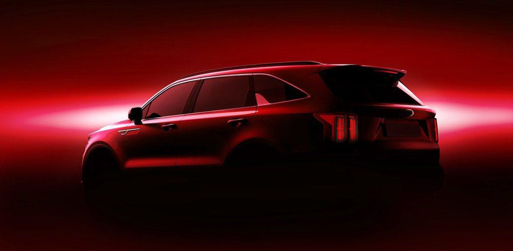 原廠釋出首波新世代Kia Sorento預告剪影圖。 摘自Kia