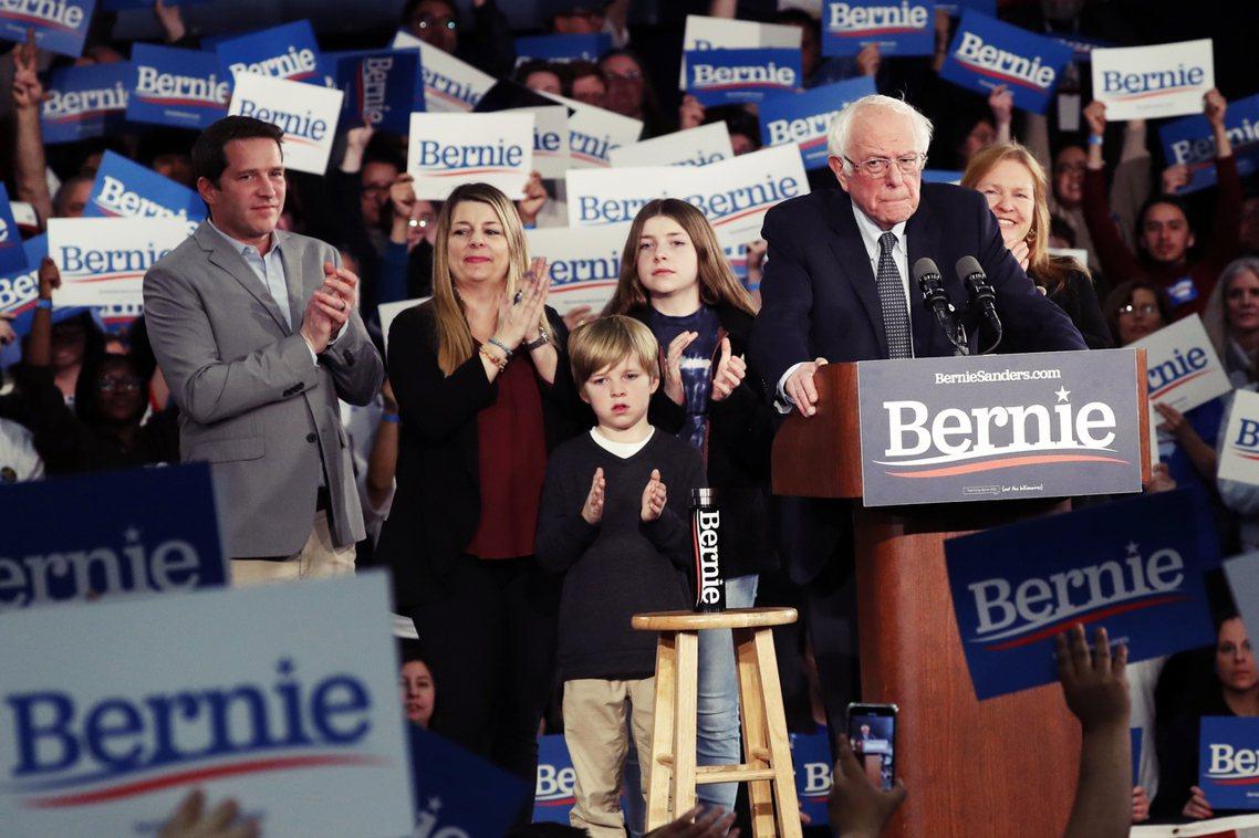 民主黨總統初選參選人之一桑德斯(Bernie Sanders)。 圖/美聯社