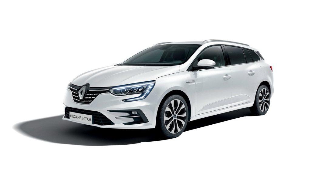 Megane E-Tech以Estate旅行車款作為示範。 摘自Renault