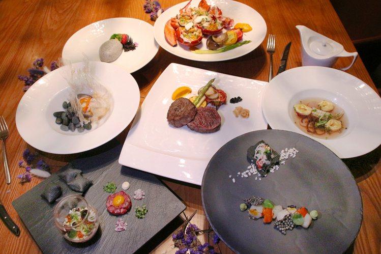 台中日月千禧酒店於情人節午晚餐時段,推出和洋饗宴套餐。圖/台中日月千禧酒店提供