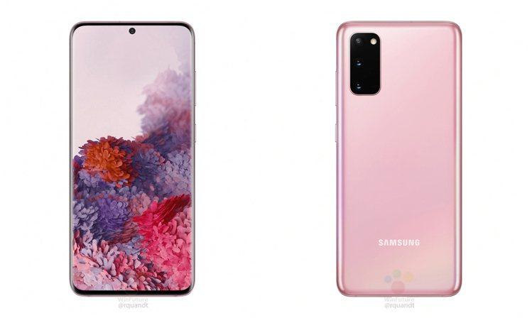據傳Galaxy S20會推出超夢幻的粉色款。圖/摘自WinFuture