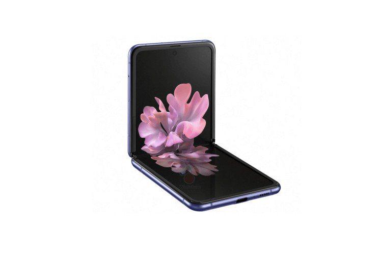 新一代摺疊機Galaxy Z Flip據傳將採用上下折疊結構。圖/摘自WinFu...