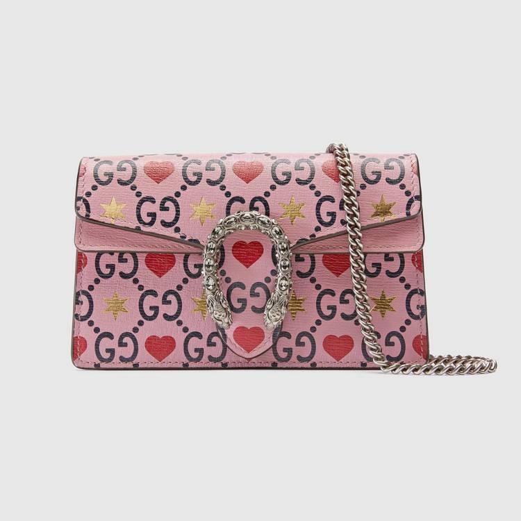 情人節限定系列Dionysu迷你鍊帶包,36,300元。圖/Gucci提供