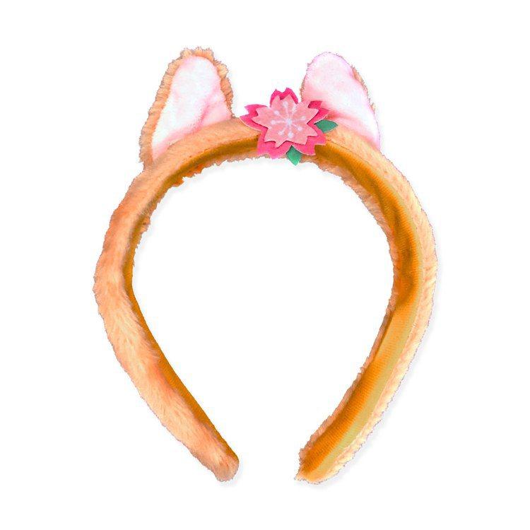 櫻花季限定款造型髮箍(蒂蒂款)售價249元。圖/邁思娛樂提供