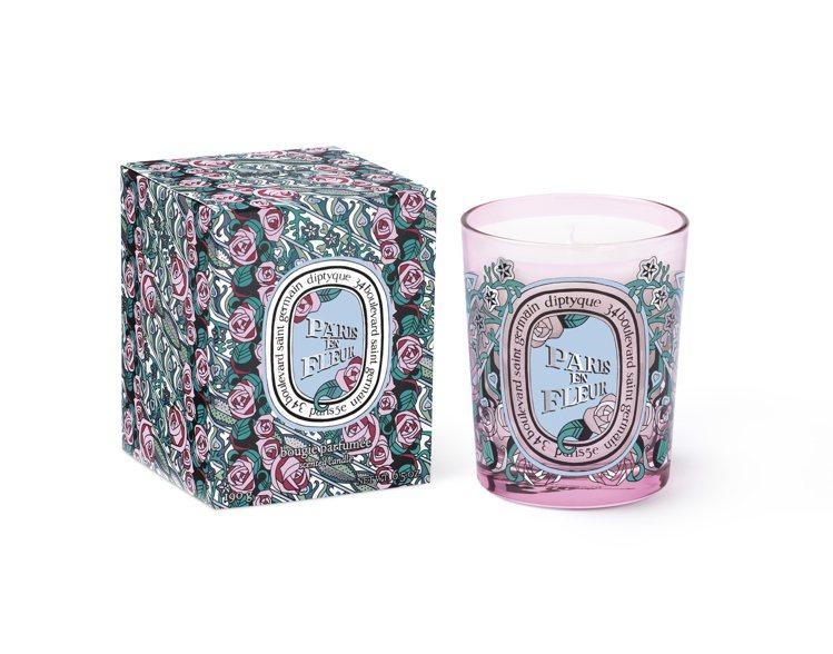 diptyque 2020限量情人節花樣巴黎香氛蠟燭,70g售價1,300元、1...