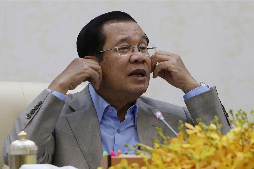 柬埔寨總理洪森表示願意親訪武漢。(美聯社)