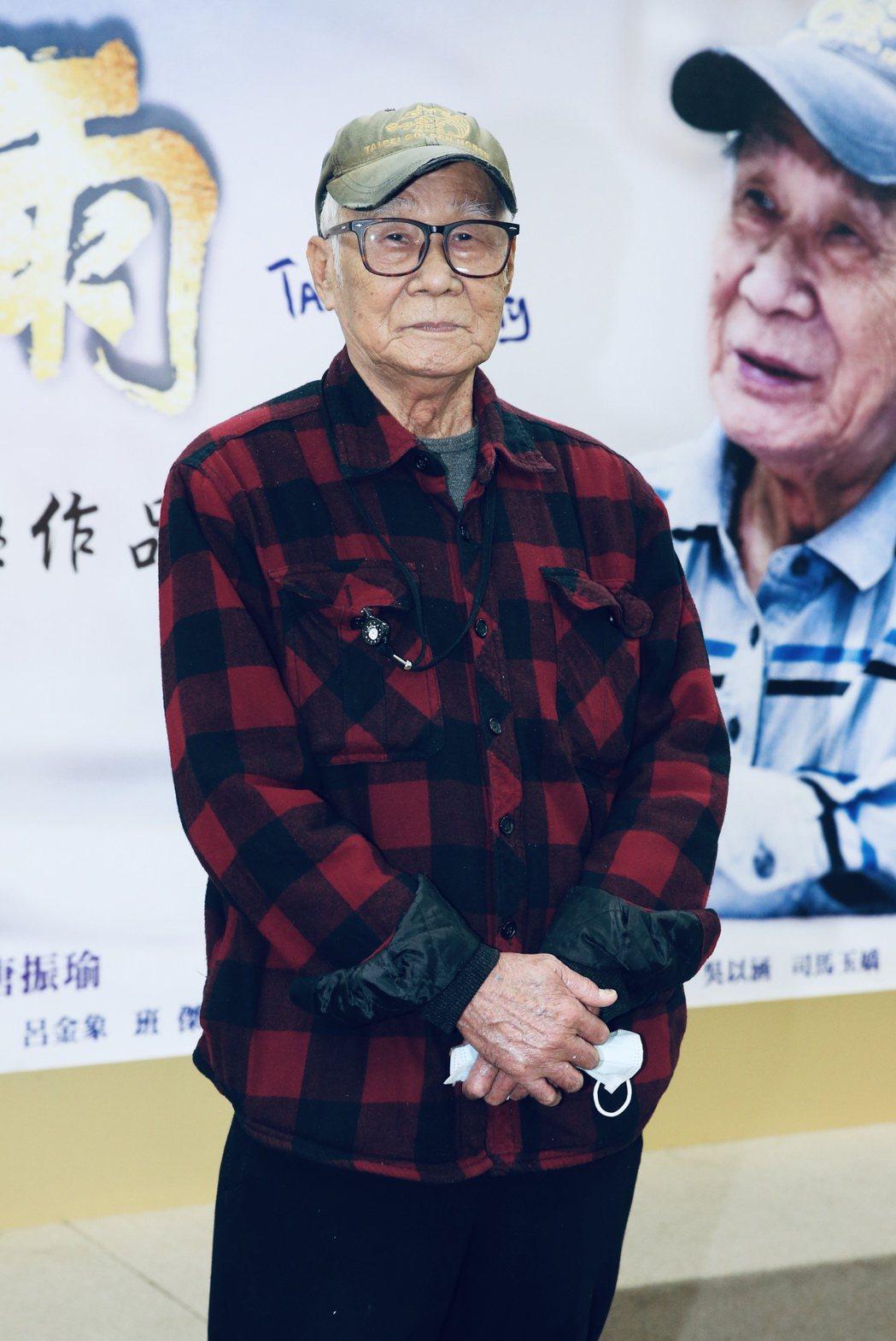 台視八點檔「四月望雨」首映記者會,導演林福地現身。記者林俊良/攝影