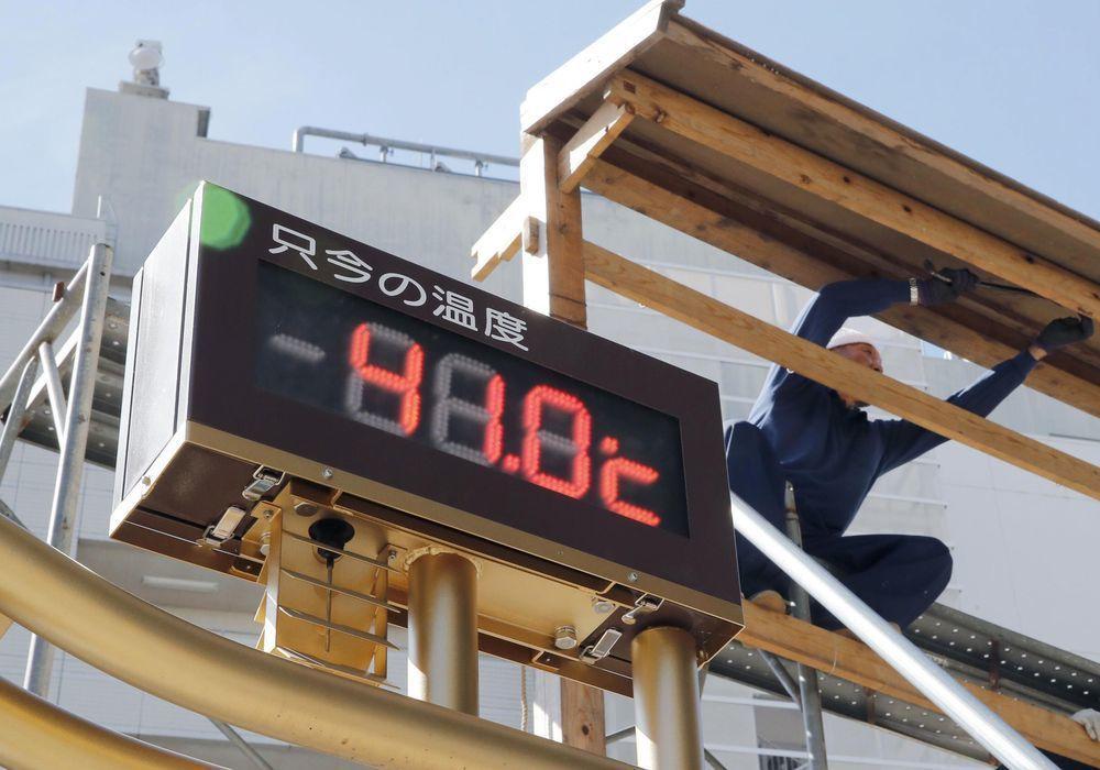 極端熱浪影響下,日本東京熊谷市在前年7月23日氣溫飆至攝氏41度。(美聯社)