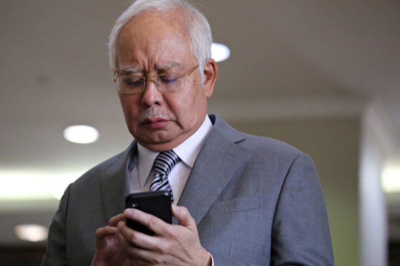 馬來西亞前首相納吉。 路透社