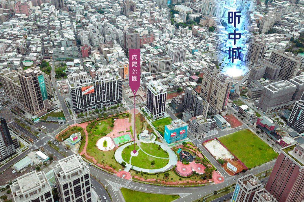 向陽公園散步150公尺。 圖/海悅國際開發股份有限公司 提供