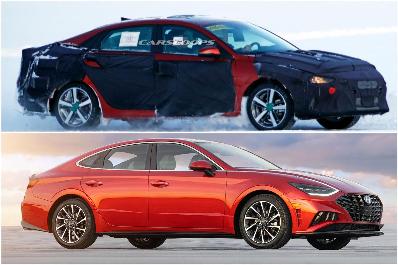 第七代Hyundai Elantra再次捕獲 有如小一號的Sonata!