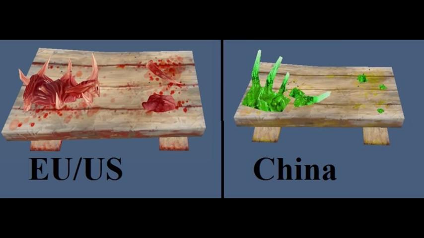 中國版的《魔獸世界》就曾用過綠血這一招。 圖:WoWFrenzy