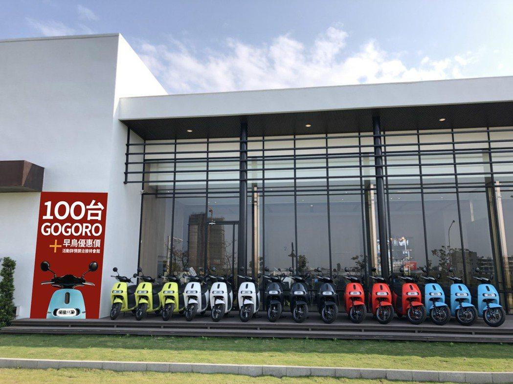 泰嘉「水律川」前100名購屋者再送一台市價8萬元GOGORO。 圖片提供/泰嘉開...