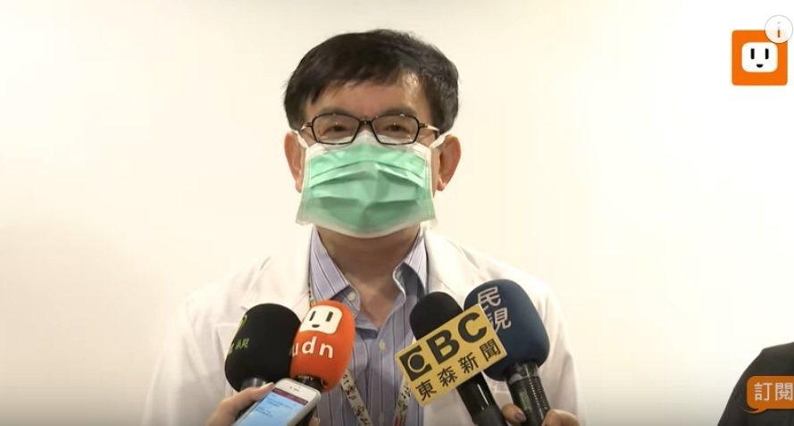 台大醫院小兒部主任暨兒童感染科主任黃立民上月接受媒體聯訪。圖/本報網路直播畫面