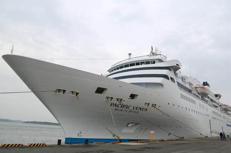 太平洋維納斯號郵輪,上月也曾造訪台南安平港。圖/報系資料照片,台南市政府提供
