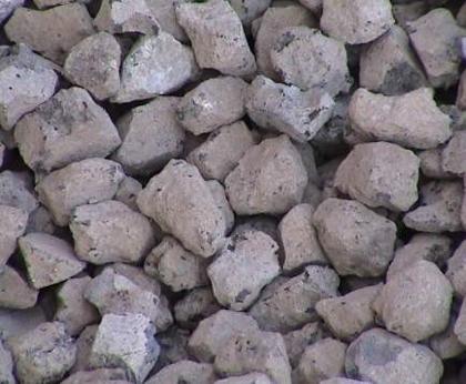 轉爐石粒料。 圖/中聯提供
