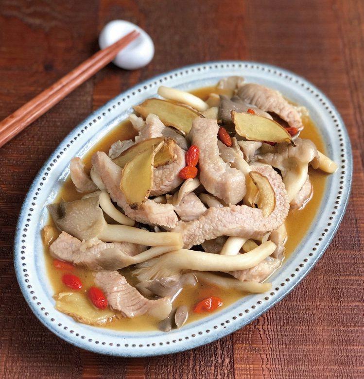 麻油菇菇松阪豬。圖/野人文化提供