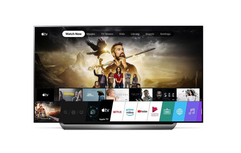 LG出產的智慧電視,將支援APPLE TV App、APPLE TV+。圖/LG提供