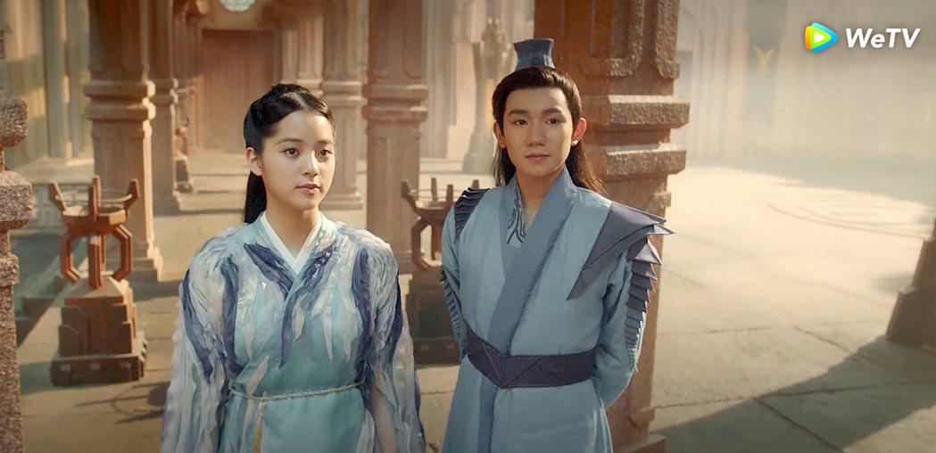 歐陽娜娜(左)和王源在「大主宰」中關係進展飛速。圖/WeTV提供