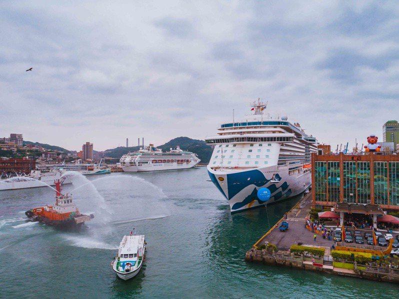 「鑽石公主號」曾停靠基隆港,當日旅客全數下船。圖/公主遊輪提供