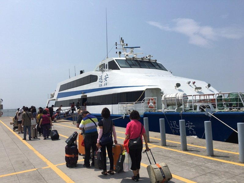 馬祖小三通7日起旅客「只出不進」。聯合報系資料照