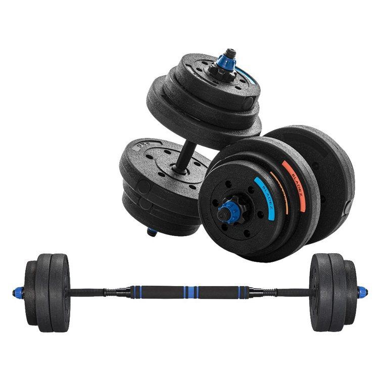 PChome 24h購物熱銷第一名:BLADEZ BD1槓鈴啞鈴兩用組合40kg...