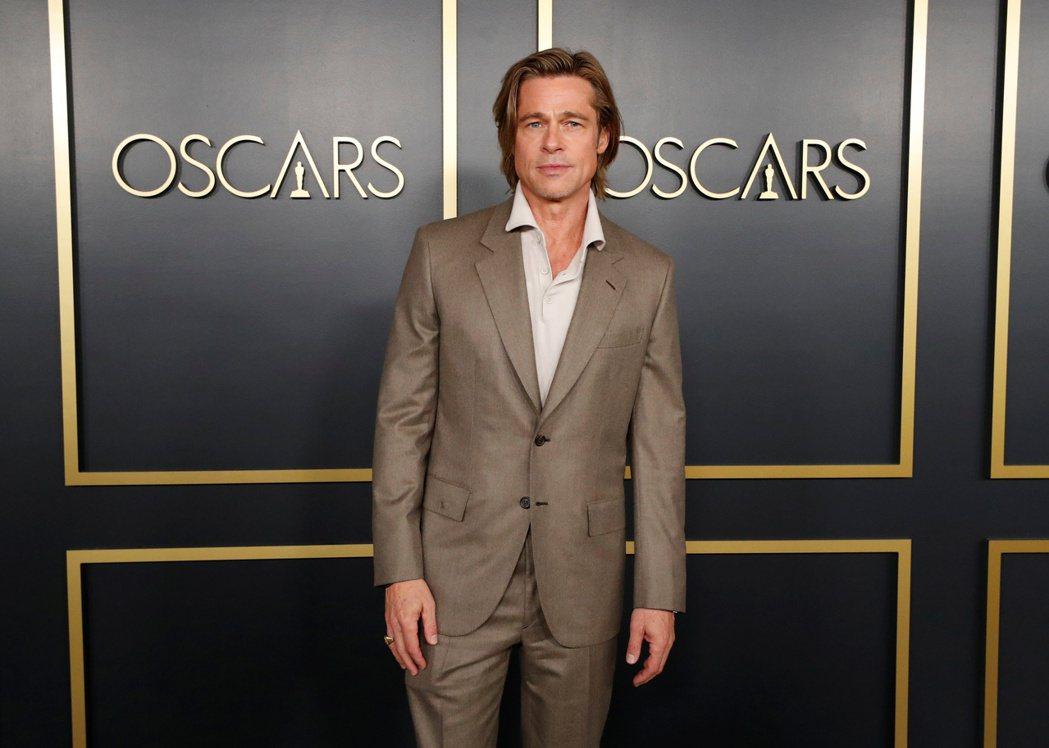 布萊德彼特被各方看好拿下本屆奧斯卡最佳男配角。圖/路透資料照片