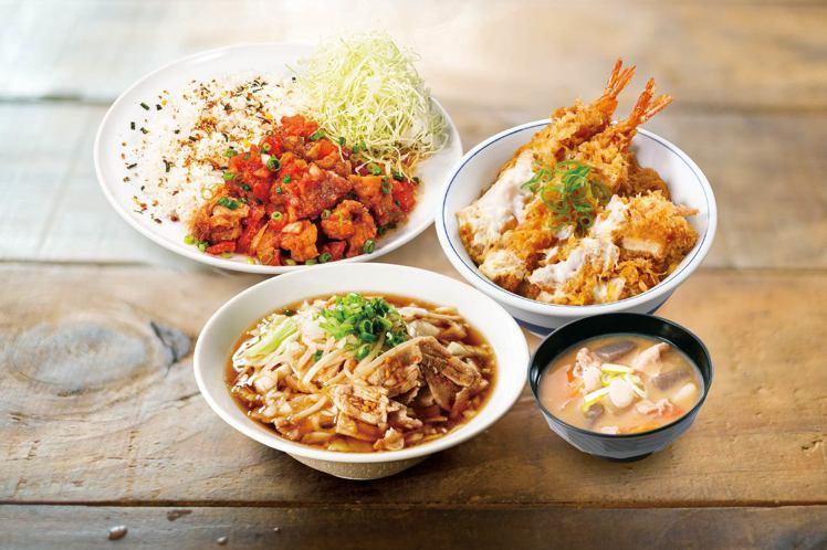 吉豚屋新推出3款拉麵、3款大盤子系列餐點。圖/吉豚屋提供